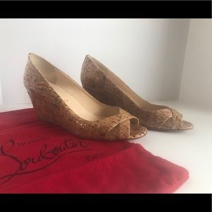 Christian Louboutin wedge heels